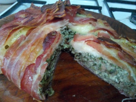 muşuroi cu bacon şi carne