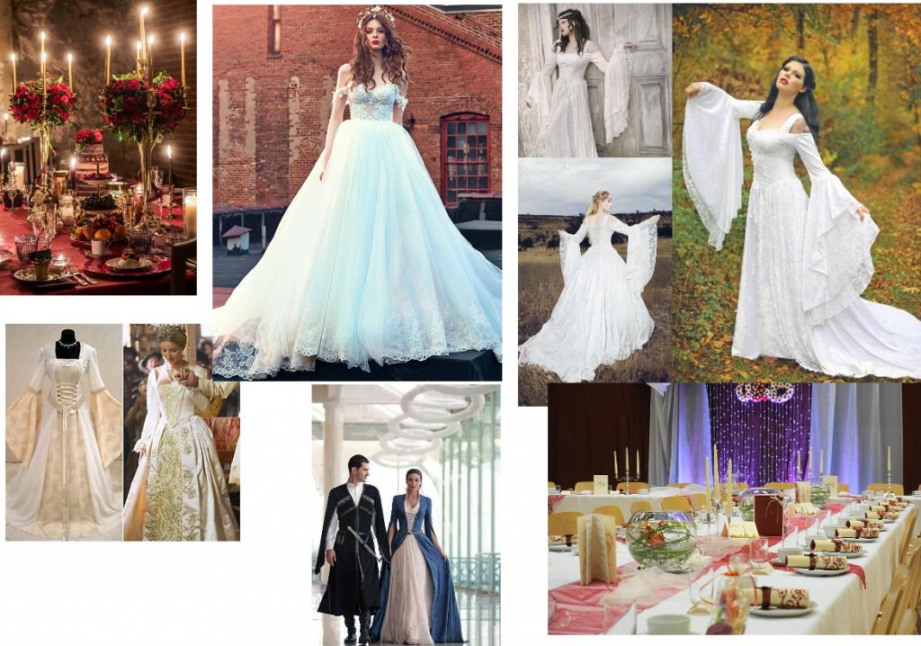 colaj nunta in stil medieval