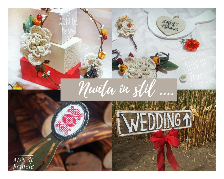 nunta în stil rustic